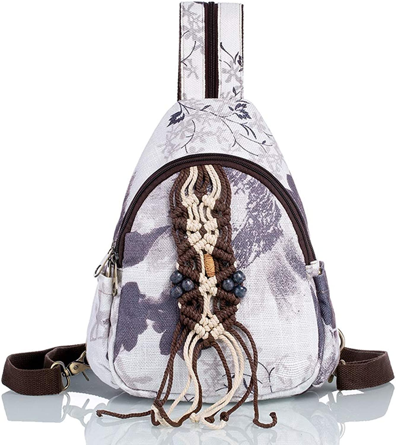 Embroidery Craft National Style Art Small Backpack Female Shoulder Bag Handmade Woven Backpack