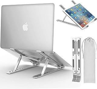 REVOSE Laptop Stand, Adjustable Aluminum Laptop Computer Stand, Ergonomic Foldable Portable Desktop Holder Compatible with...