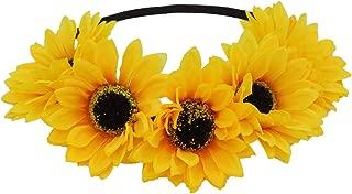 sunflower baby headband