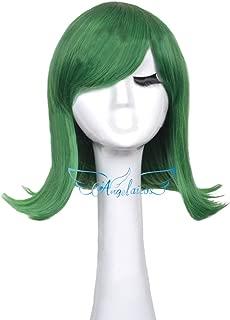 Angelaicos Unisex Lolita Party Halloween Cosplay Costume Hair Full Wigs Short (Green)