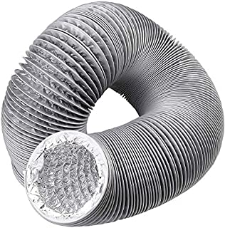 GFDQH Air Conditioner Hose Pipe PVC Duct Extension Kit for Bathroom, Kitchen, Toilet, Hydroponics Extractor Fan Duct Pipe (ø 250mm/6m,Gray)