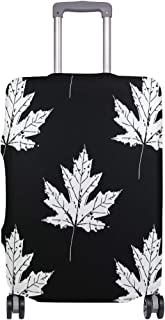 Mydaily Maple Leaves Luggage Cover Fits 18-32 Inch Suitcase Spandex Travel Baggage Protector