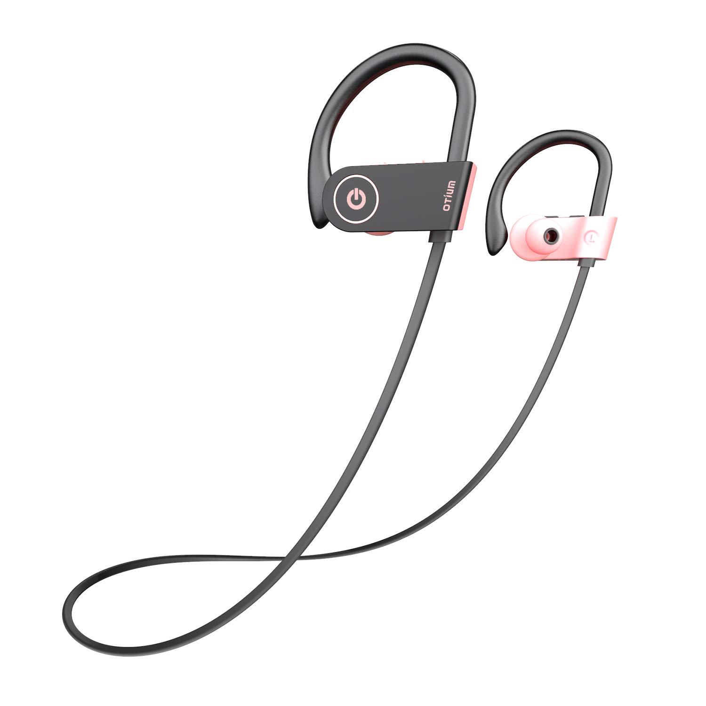 Amazon Com Pink Headphones Otium Best Bluetooth Headphones Wireless Earbuds For Women Girls Stereo Bass In Ear Ipx7 Waterproof Running Sports Earphones Electronics