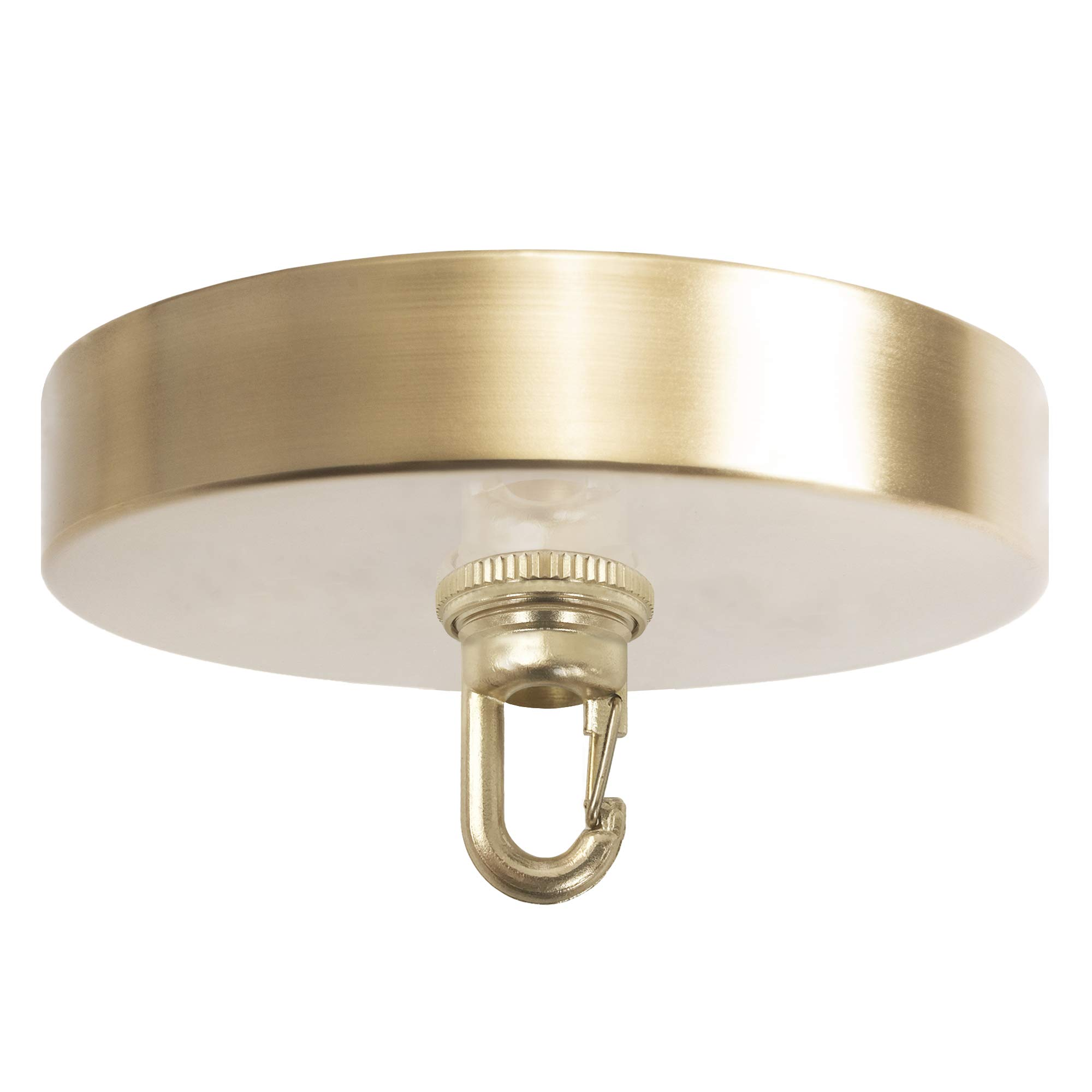 Amazon Com Flea Market Rx 5 Inch Heavy Duty Chandelier Canopy Kit 50 Lb Hook Ceiling Light Cover Plate Screw Collar Snap Hook Mounting Hardware For Hanging Chained Pendant Lighting Made In Usa