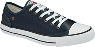 Mens Canvas Trainers Lace Up Pumps Casual Plimsolls Fashion Skater Shoes Sneakers