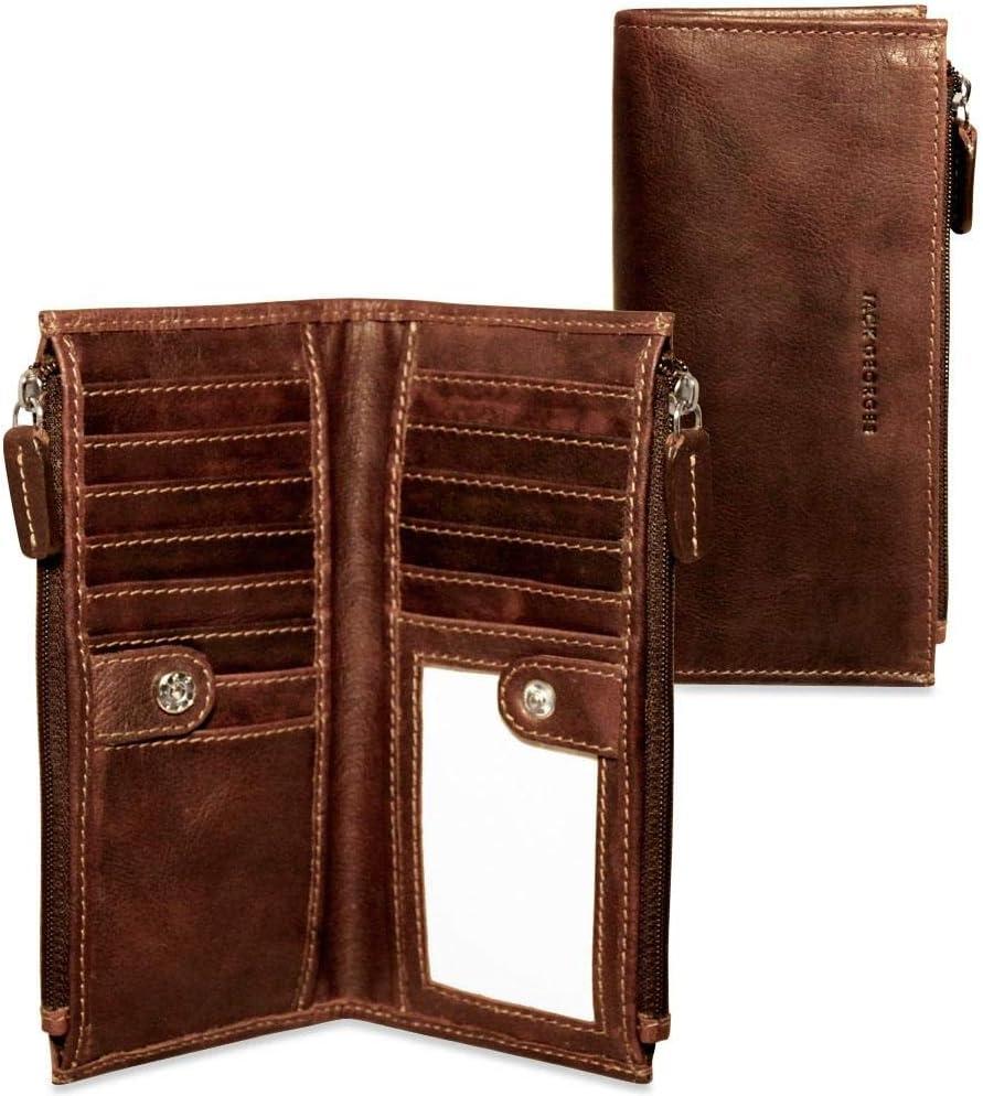 Voyager Slim Zippered Wallet #7717 (Brown)