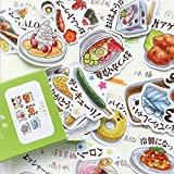 BLOUR Kawaii Todos los días pequeñas Cosas Linda niña Dibujos Animados Caja de Comida decoración álbum de Recortes papelería Diario japonés Pegatinas Chica 40pc