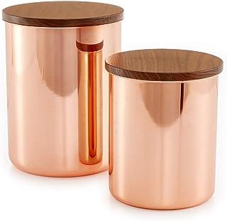 Martha Stewart 2-Piece Copper-Plated Container Set