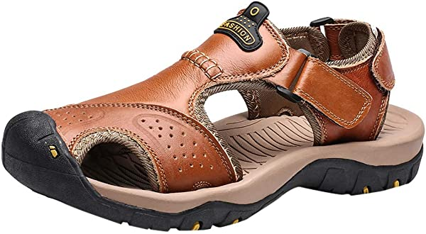 Corriee 2019 Most Wished Men Sport Sandals Mens Fashion Leather Hiking Shoes Flats Outdoor
