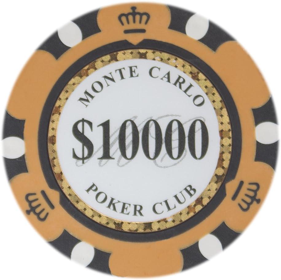 List price Brybelly Monte Carlo Premium Soldering Poker Heavyweight 14-Gram Cla Chips