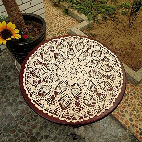 USTIDE - Manteles individuales rústicos con diseño de flores, a mano, de...
