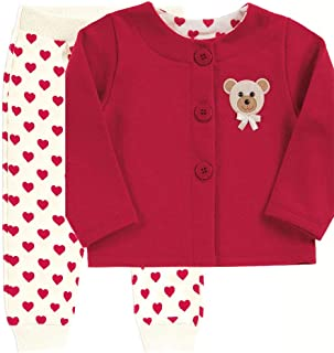 Conjunto Groselha Bebê Menina Moletom 111041-1074