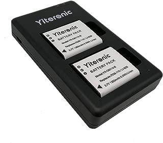 Yiteronic DB-110 Replacement Battery and Charger Kit for Ricoh DB-110,Olympus Li-92B/Li-90B,RICOH GRIII WG-6 G900,Olympus Stylus XZ-2 SH-50 TG-1 TG-2 TG-5 TG-6 Tough (2-Packs,Micro USB Port)