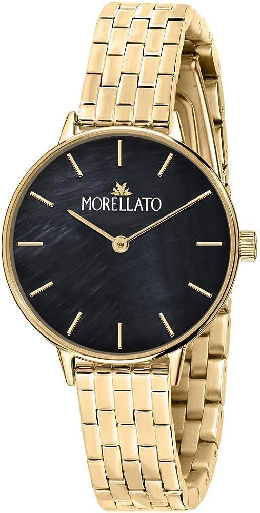 Morellato,orologio per donna, in acciaio inossidabile e pvd oro R0153142535