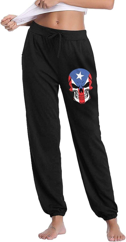 TianJinXingHuiYao Puerto Rican Flag Logo Womens Super Soft Runni