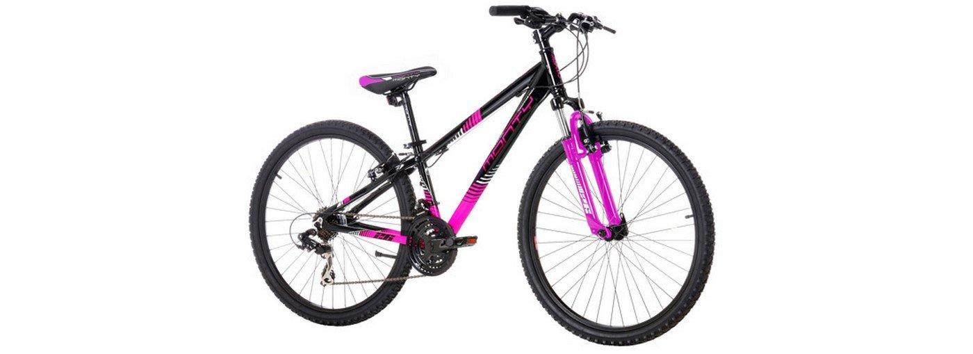 Monty KY8 - Bicicleta de montaña para niño, Color Negro/Rosa, 13