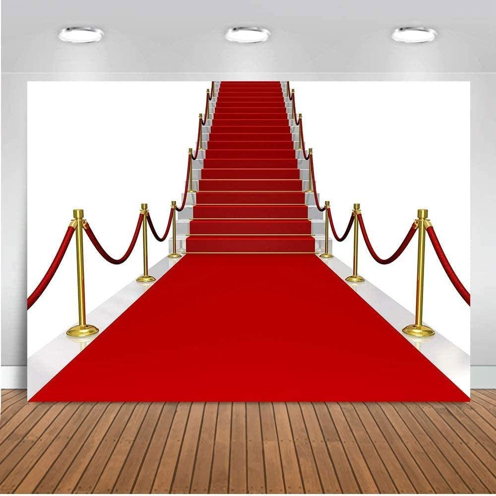 Zhy 7X5FT Backdrop Red Carpet Background for Photography Background Photo Video Studio Photography Props GEEV518