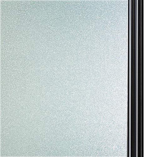 Qualsen Privatsphäre Fensterfolie Sichtschutzfolie Ohne Kleber Selbstklebend Glas Fenster Aufkleber Anti-UV Folie (90cm x 300cm)
