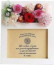 パラボッセオリジナル プリザーブドフラワー フォトフレームプリザ カンパーニュ ピンク ホワイト preserved flowers