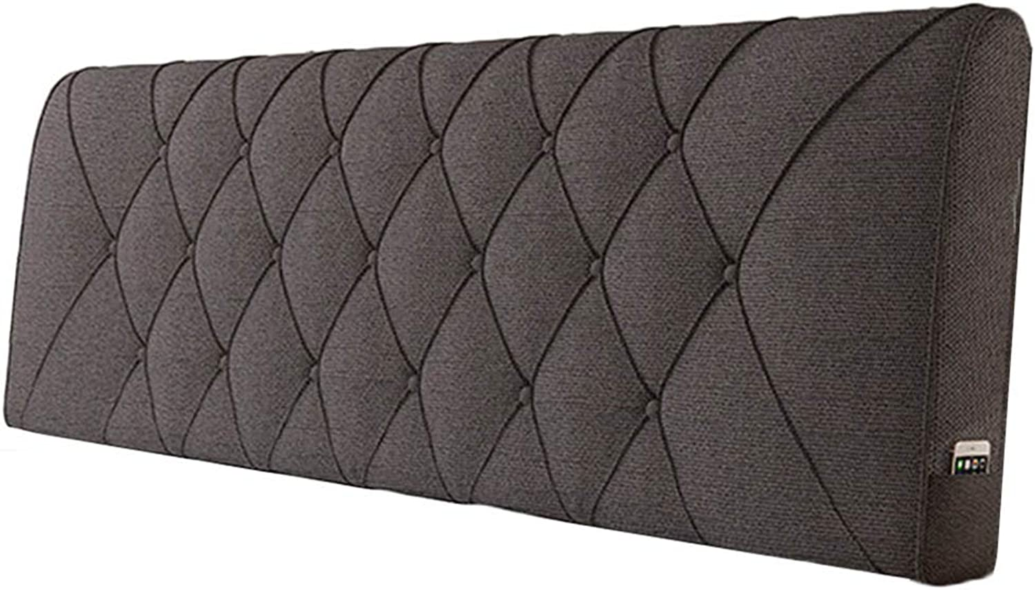 WENZHE Upholstered Fabric Headboard Bedside Cushion Pads Cover Bed Wedges Backrest Waist Pad Cloth Waist Belt Backrest Washable Home Bedroom Multifunction, 5 colors