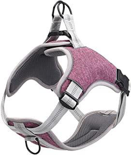 Dog Harness No Pull, Adjustable Easy-to-Wear Dog Vest with Front and Back Clip, Reflective Harness for Dog Walking & Train...