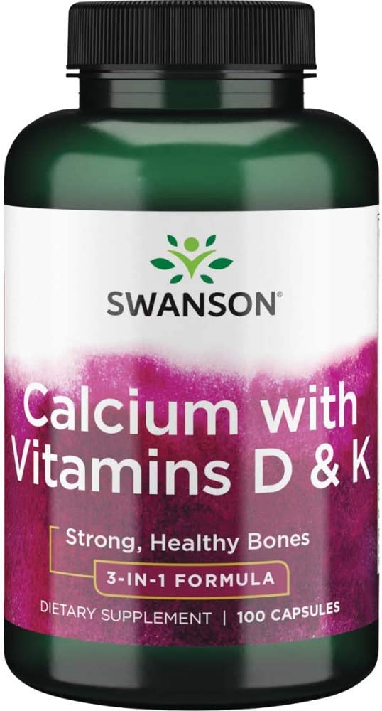Swanson Tricalcium San Jose Mall Complex with Vitamins K Capsules New products, world's highest quality popular! D 100