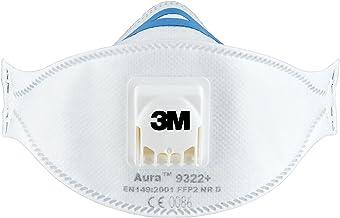 3M Aura masker voor handslijpen en elektrisch gereedschap 9322+C2 – ademmasker met beschermingsniveau FFP2 en 3M Cool Flow...