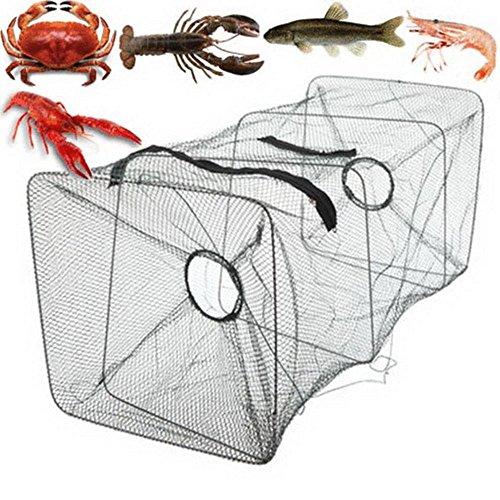 KUAQI Plegable Peces Carpa Cebo de Pesca Jaula Jaula de Hierro Fundido...