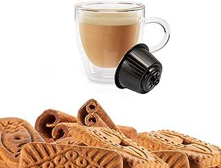 KICKKICK® 16 Capsules Café Speculoos Soluble – Cappuccino Biscuit et Cannelle - Compatible Nescafé Dolce Gusto