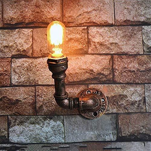 Lámpara de pared Retro Aplique, Tubería de agua de la vendimia ligero de la pared de la personalidad creativa de Steampunk lámpara de pared retro aplique industrial for Bar Restaurante Cafetería Corre