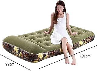 Cama inflable de camuflaje, colchón de aire para el hogar, cama de aire doble, cama de aire libre, cama de aire portátil, tienda de campaña, bomba eléctrica (color : bomba eléctrica a bordo)