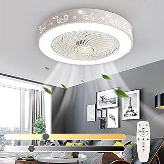 Ventilateur de plafond LED moderne avec lumière Dimmable Ventilateur de plafond muet avec télécommande et minuterie 3 Vite...