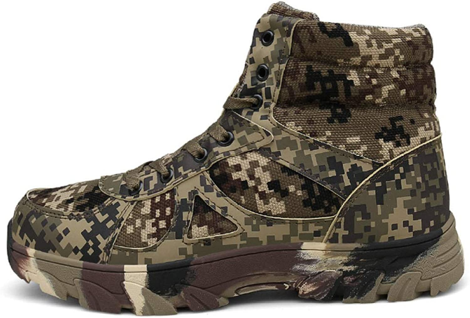 QIKAI Tactical Boots Zip Plus Cashmere Boots Large Size Camouflage Desert Boots Special Forces Warm Military Boots