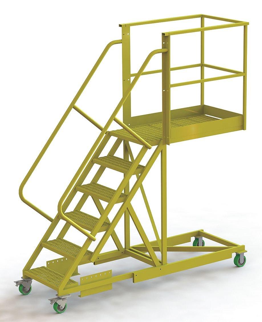 TriArc – UCS500640246 – Escalera de rodillo de 6 pasos con soporte, con punta de paso perforada, 102 altura total: Amazon.es: Bricolaje y herramientas