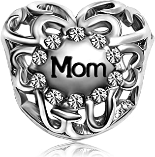 JMQJewelry Mother Mom Gifts Love Birthstone Charms Beads for Bracelets