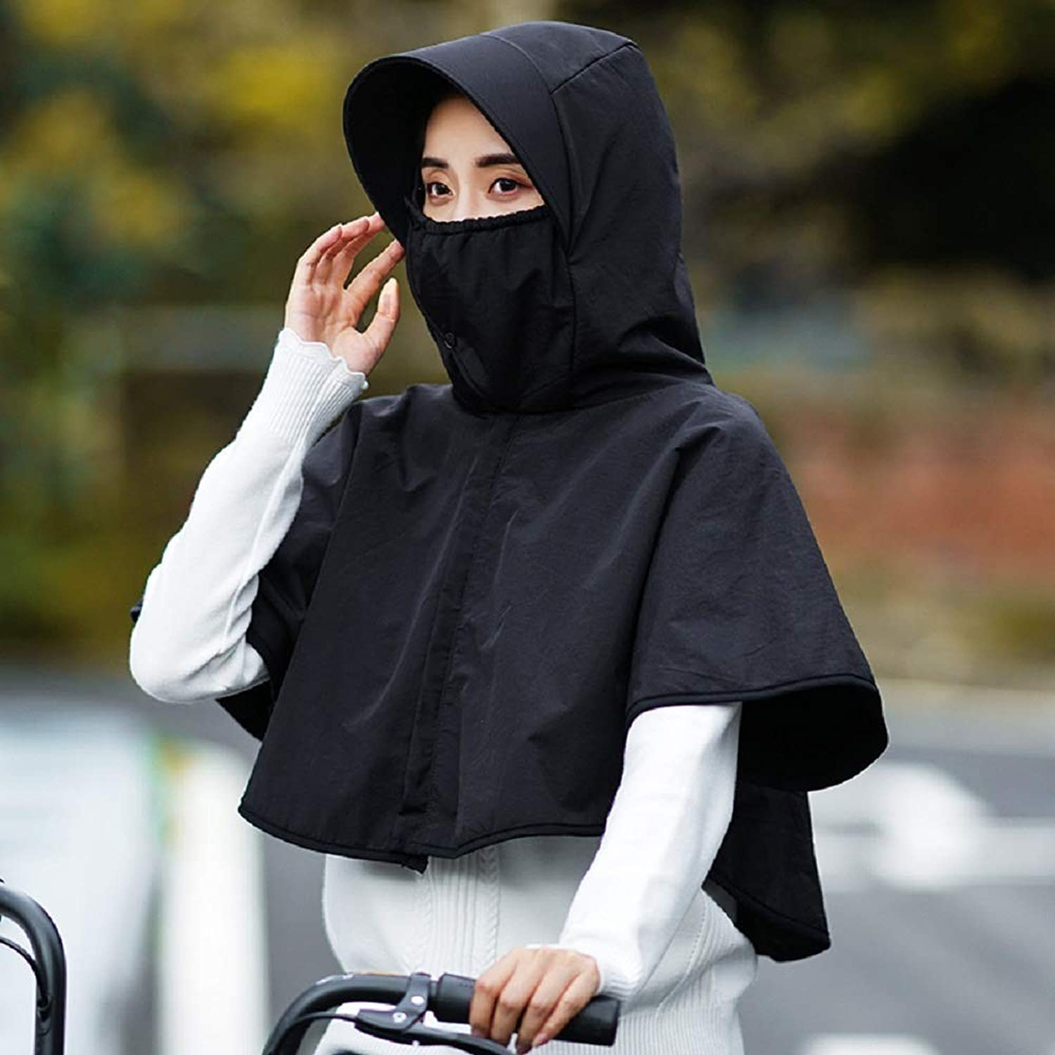 Beach Hat Outdoor hat Female Autumn and Winter, Cycling Cover face Earmuffs, Windproof Cold Warm hat, mask Collar one-Piece Hood Cap Summer Sun Hat (color   6, Size   cm)