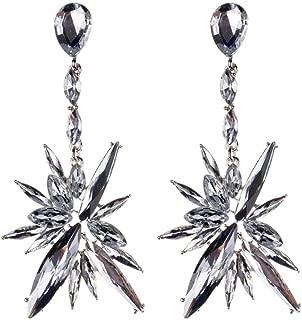 BGTKD Earrings Crystal Earrings For Women Rhinestone Drop Earring