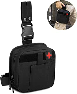 CamGo Multifunctional Drop Leg Waist Bag - Tactical Thigh Hip Outdoor Pack MOLLE First Aid Kit Bag IFAK Medical Utility Pouch