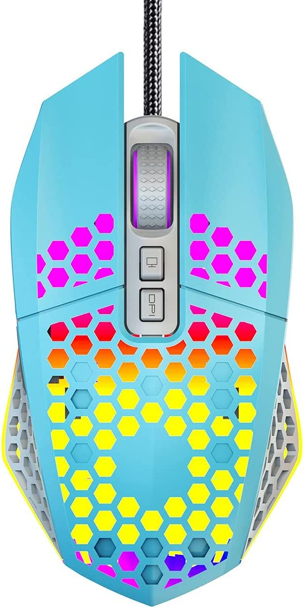 XingcM Colorful Super Special SALE held RGB Lightweight Hollow USB Wired Mouse Max 85% OFF Optical E