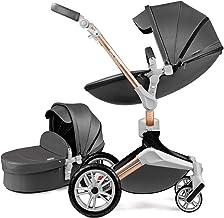 Hot Mom Kombikinderwagen 2 in 1 Kinderwagen 2020 Neues Design 360 Derhbar Dark Grey