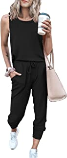 Sponsored Ad - PRETTYGARDEN Women's Two Piece Outfit Sleeveless Crewneck Tops With Sweatpants Active Tracksuit Lounge Wear...