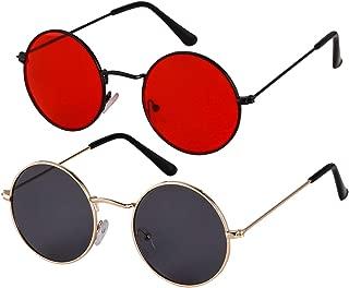 Round Retro Sunglasses Men Women Vintage Small Circle Sun Glasses