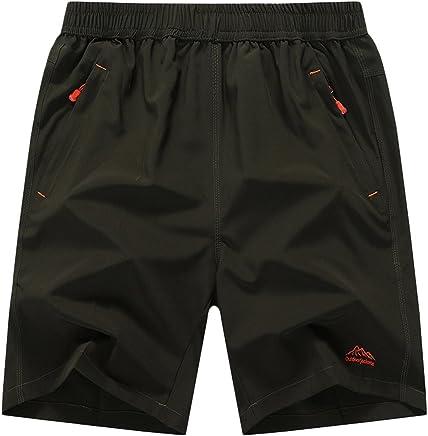 chouyatou Men's Active Elastic Drawstring Waist Oversized Gym Run Shorts