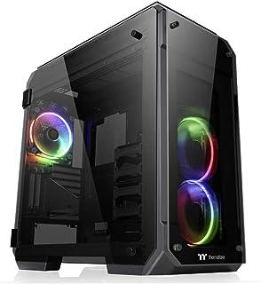 Thermaltake CA-1I7-00F1WN-01 View 71 RGB 4-Sided Tempered Glass Vertical GPU Modular E-ATX Gaming Full Tower Chassis/Compu...