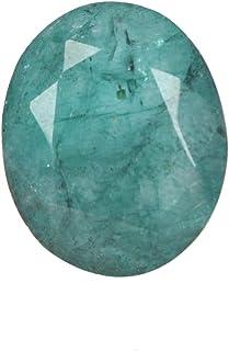 Real Gems Piedra Preciosa Suelta Esmeralda Natural, Forma Ovalada facetada 7.50 CT Piedra Preciosa Suelta Esmeralda Verde,...