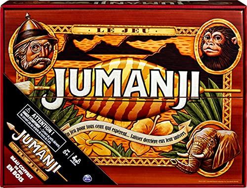 Jumanji das Spiel – Gesellschaftsspiel für die ganze Familie – schönes Holzspiel – Retro Spin Master Games – Französische Version – 6054665 – Spiel 5 Jahre und älter.