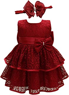 Baby Girls Infant Lace Party Dresses Princess Wedding Birthday Formal Dress for Toddler