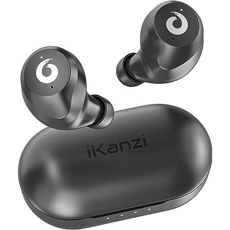 【超ミニ型 Bluetooth イヤホン】 ワイヤレスイヤホン Bluetooth 5.0 ブルートゥース イヤホン Hi-Fi 完全ワイヤレス イヤホン 自動ペアリング IPX6防水レベル【Siri対応/AAC対応/左右分離型/軽量】 (iPhone Android 対応)