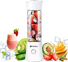 Portable Rechargeable Juice Blender, Household Fruit Mixer, TERSELY Personal Blender 480ml / 16.8OZ USB Juicer Cup for Hom...