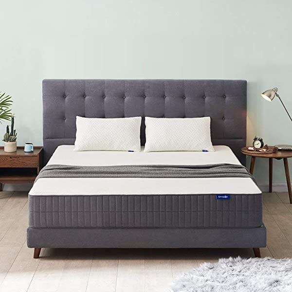 Sweetnight Queen Mattress Queen Size Mattress 10 Inch Gel Memory Foam Mattress With CertiPUR US Certified For Back Pain Relief Motion Isolation Cool Sleep Flippable Comfort From Soft To Medium Firm